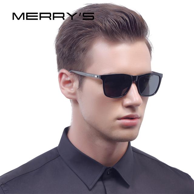 Merry's moda unissex retro alumínio óculos de sol dos homens lente polarizada óculos de sol do vintage para mulheres quadrados óculos de sol masculinos s'8286