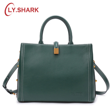 купить LY.SHARK Genuine Leather Handbag Shoulder Bag Female Bags For Women 2018 Luxury Handbags Women Bags Designer Crossbody Bags онлайн