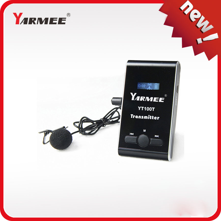 Yarmee YT100 Wireless Tour Guide System Transmitter Simultaneous Translation System for Tour guiding 2 transmitter 30 receivers