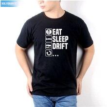Eat Sleep Drift Car Racer Driver Birthday Christmas Gift Funny Printed Mens T-Shirt Short Sleeve Cotton Casual T Shirt Top Tees
