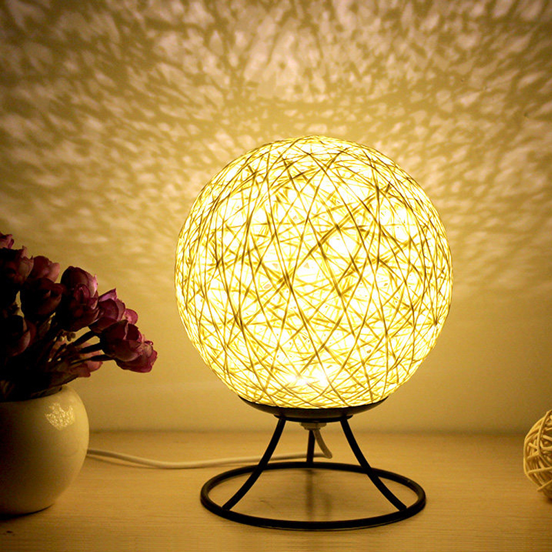 LED Table Lamps Creative Desk Lights Indoor Holiday Lighting Distinctive Vine Ball Gift Bedroom Decorate Bulbs TDL03