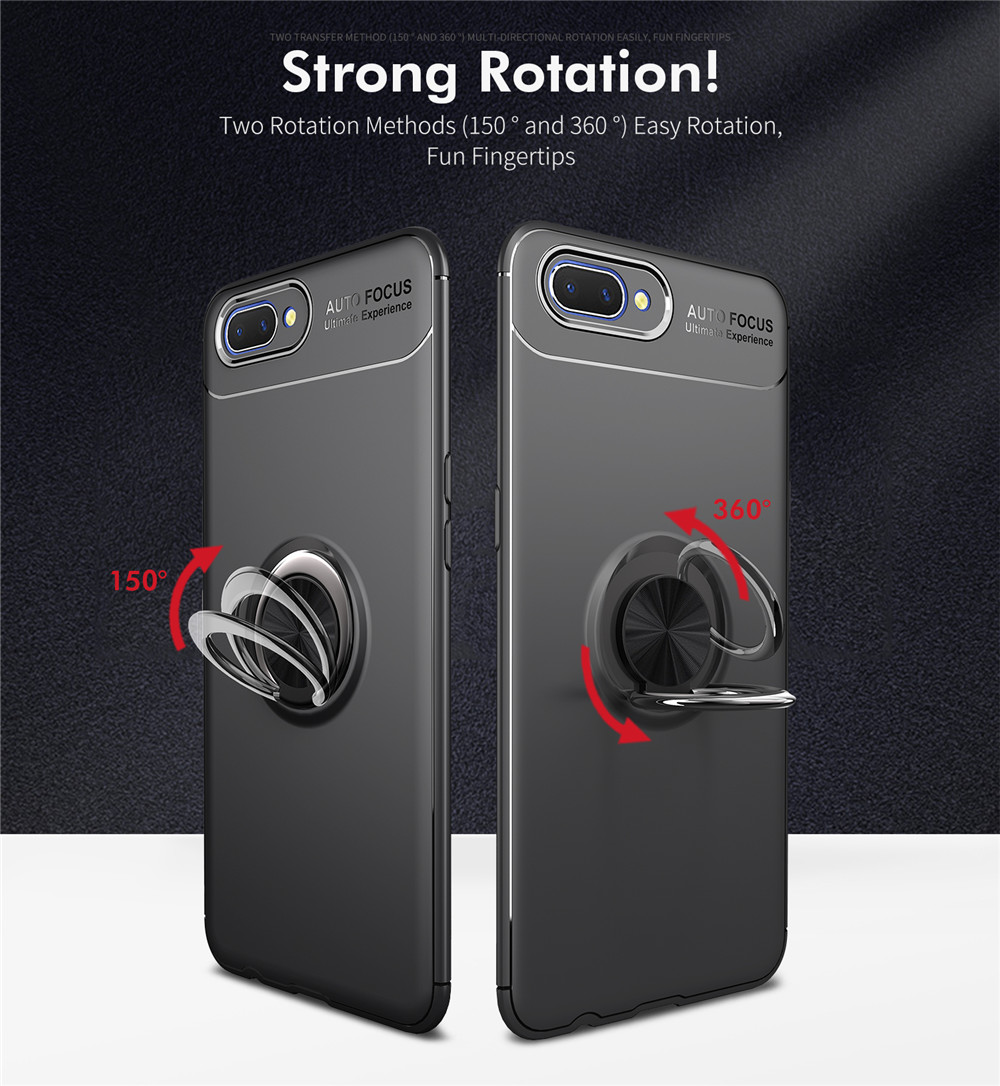 US $2 99 40% OFF|For OPPO A3s Case Colorful Metal Magnetic Ring Holder Soft  Silicone TPU Luxury Cover for OPPO A3s-in Fitted Cases from Cellphones &