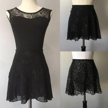 Ballet Dance Skirt Adult 2020 New Design Practice Leotard Black Color Elegant Lace Dress Women Dancing Wear