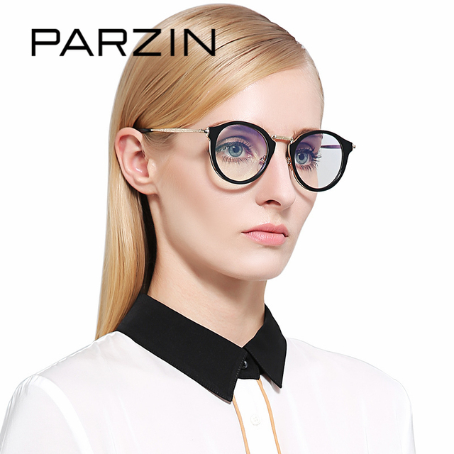 Parzin Kualitas Tinggi Wanita Minus Bingkai Kacamata dengan Jelas Lensa  Warna-warni Bulat Miopia Kacamata 3c8939c740
