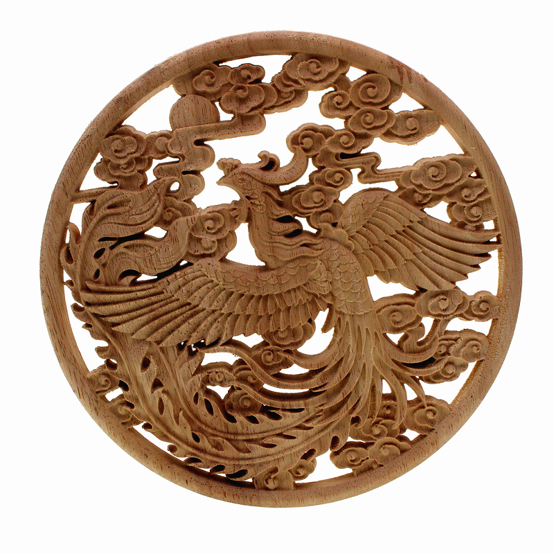 VZLX Floral Wood Carved Decal Corner Appliques Frame Wall Doors Furniture Decorative  Figurines Crafts Wooden  Madera Legno