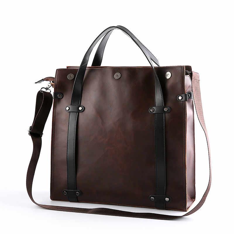 한판 남자 가방 가죽 남자 가방 핸드백 고대의 방법을 복원 남자 어깨 가방 비즈니스 가방