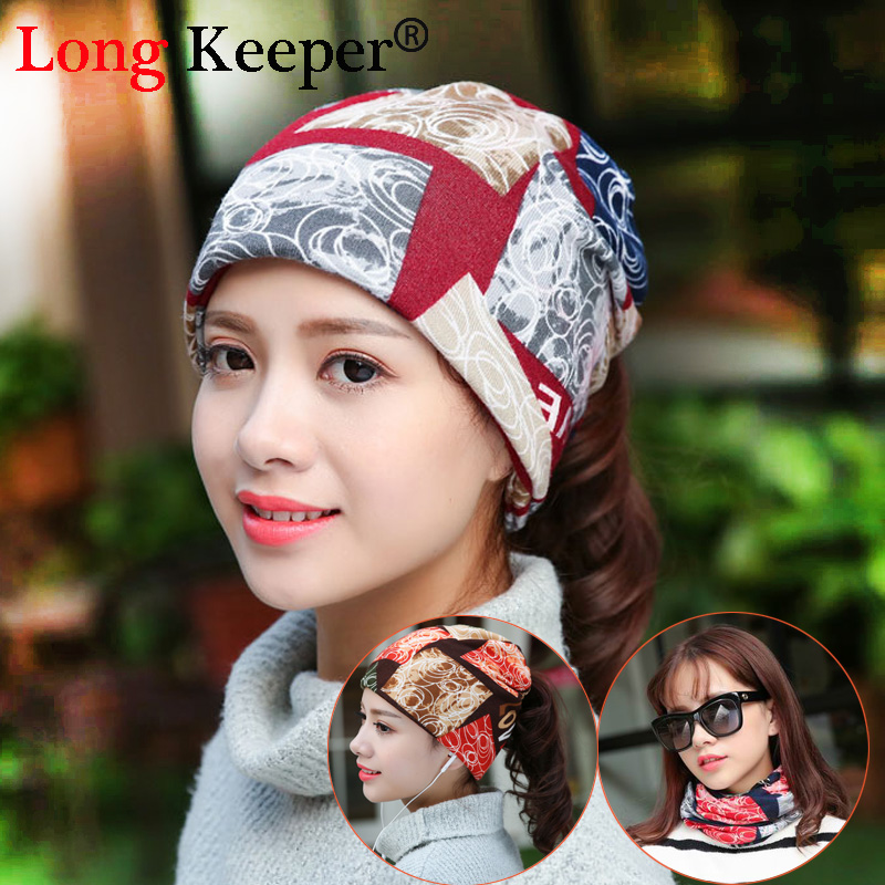 Long Keeper New Arrival Women's Beanies Autumn Hats Kintted Winter Caps for Women Balaklava Female Gorros Hats 3 Way to Wear female caps for autumn