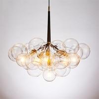 Современные Стекло молекулярная люстра, подвесные светильники осветительная Подвесная лампа Led Кухня светильники столовая Подвесная ламп