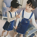 2017 Kids New Summer Jeans Skirts Girls Overalls Skirts Children Casual Skirts Toddler Denim Clothes,2-7Y