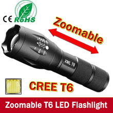 E17 XM-L T6 3800Lumens led Torch Zoomable LED Flashlight Torch light For 3xAAA or 1×18650 Free shipping