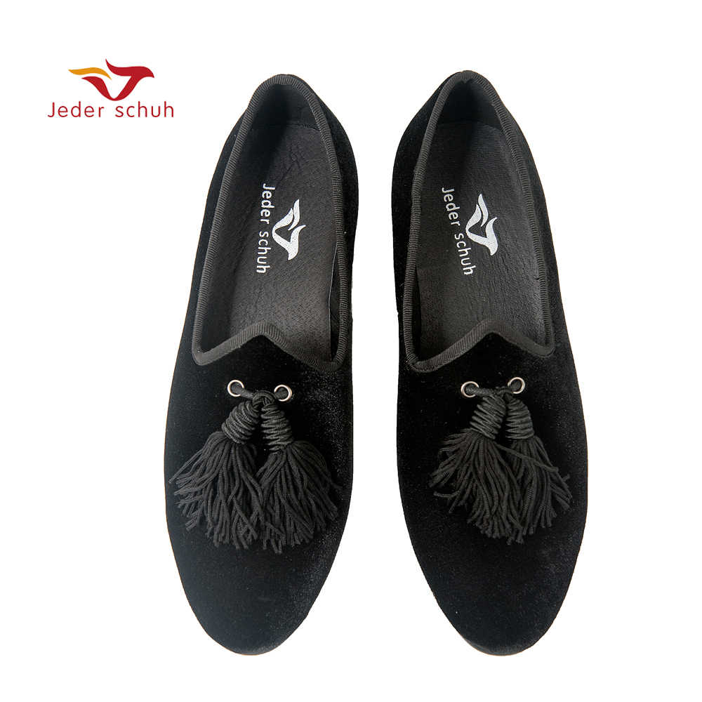 Jeder Schuh men shoes Italian Design Unique Style tongue with tassels For weddings and banquets Smoking slippers flats