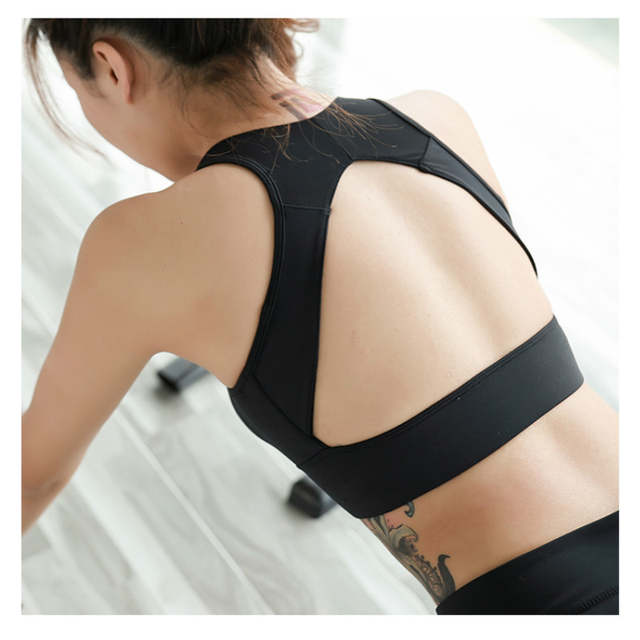 264acf141c placeholder Colorvalue Deep-V Neck Gym Yoga Bra Women Sexy High Support  Dance Jogger Sports Bras