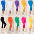 2016 New Leggings Women Plus Size L-4xL  9 Colors Optional Quality Casual Women Leggings Was Thin Summer Leggings Capri Pants
