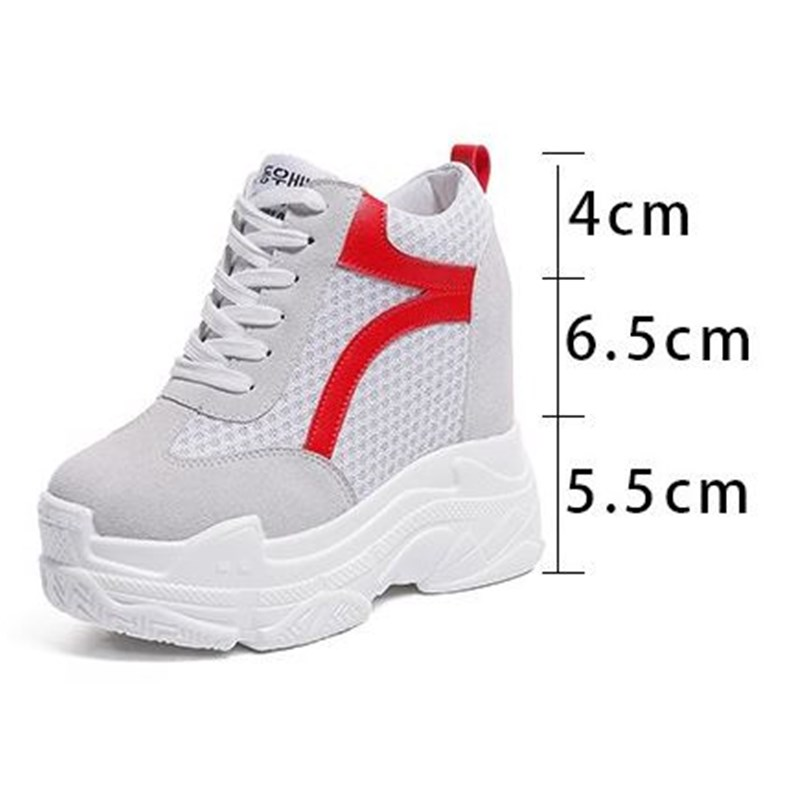Marque Slip 1 Casual 2019 forme Respirant Llat 1 Plate Femmes Chaussures Sneakers Sur black Xjrhxjr Mesh white black Creepers Printemps White CBWEQorxde