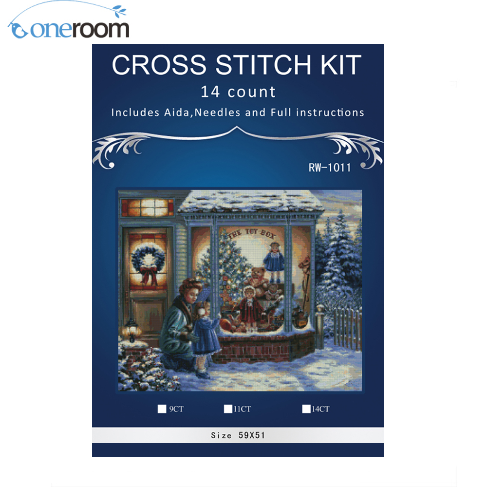 mom baby christmas gifts stitchdiy 14ct similar dmc cross stitchsets for embroidery kits counted cross stitching in package from home garden on