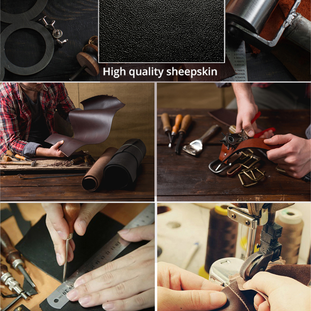 SMSPADE Real Leather Luxurious Bondage Restraints Kit Handcuffs Ankle Cuffs Mouth Gag Neck Collar Flogger Whip