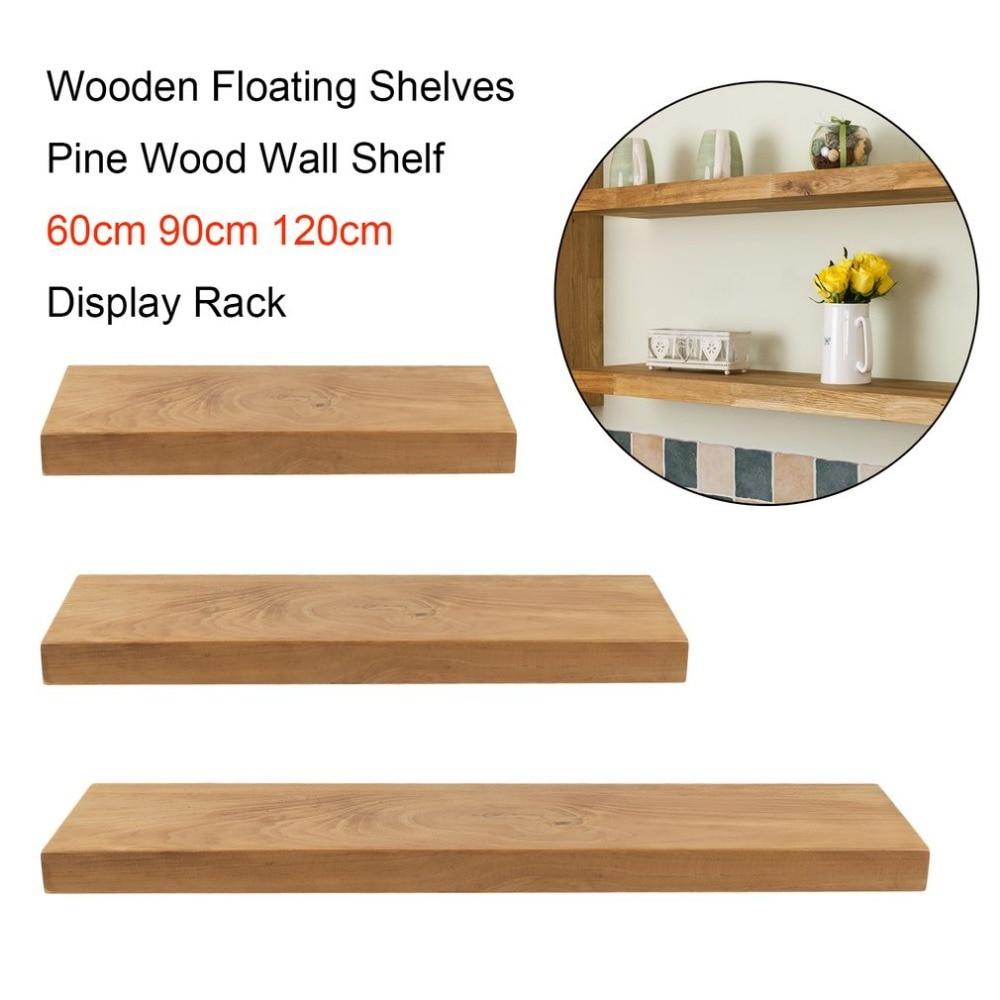 Newest Wooden Floating Shelves Multifunctional Pine Wood Wall Shelf 60cm 90cm 120cm Modern Display Rack Home DecorNewest Wooden Floating Shelves Multifunctional Pine Wood Wall Shelf 60cm 90cm 120cm Modern Display Rack Home Decor