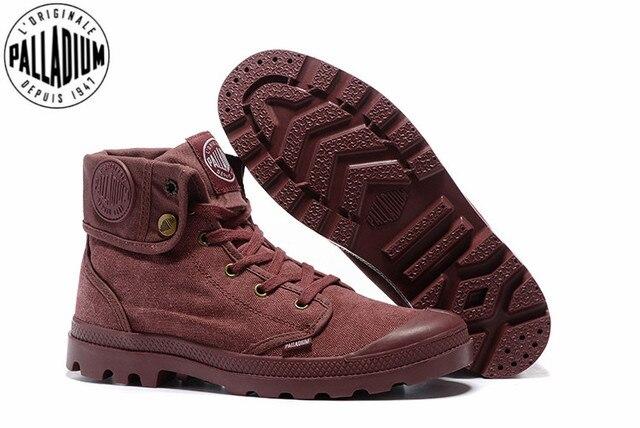 6dddce6cee PALLADIUM Pallabrouse Purple Turn help Men Military Ankle Boots Canvas  Casual Shoes Men Casual Shoes Eur