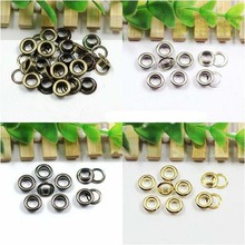 Фотография 4mm&5mm&6mm Eyelets for Apparel and Scrapbook Antique brass color metal eyelets for garment eyelet for bags 1000sets