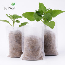100pcs Nursery Pots Seedling-Raising Bags fabrics Garden Nursery bags Supplies(China)