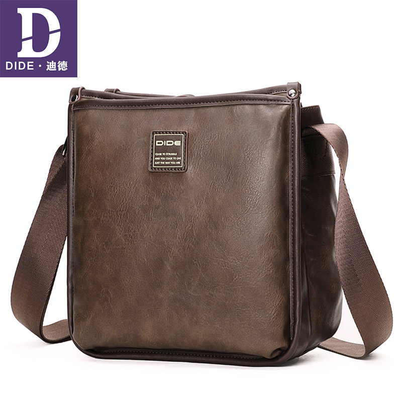 DIDE Fashion Vintage Men's Bags Leather Small Ipad Male Messenger Bag Men Shoulder Cross body Bags handbags bags designer deelfel new brand shoulder bags for men messenger bags male cross body bag casual men commercial briefcase bag designer handbags