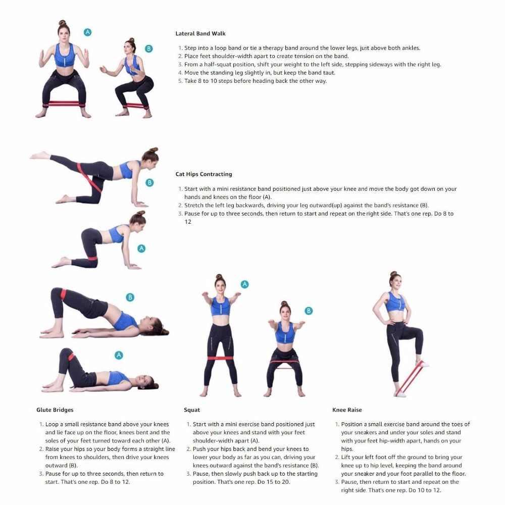 10-12 ''Yoga Widerstand Bands für Frauen Übung Fitness Gummi Loops Squat Oberschenkel Booty Bands für Home und turnhalle Workouts Training
