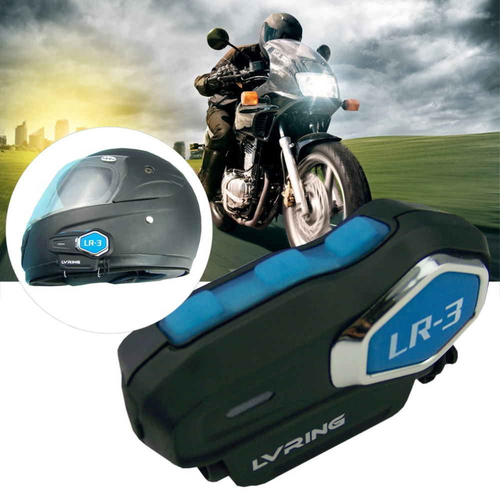 LR-3 1PC Multifunctional Motorcycle Helmet Bluetooth Headset Wireless Intercom BT Wireless Intercomunicador Interphone MP3 new