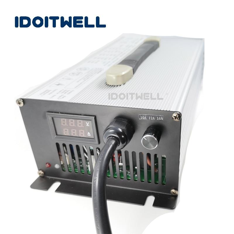 Подгонянное зарядное устройство 1200 Вт с регулируемым током 12 В 50A 45A 40A ток 3 этапа Регулируемый для свинцово кислотного лития или lifepo4