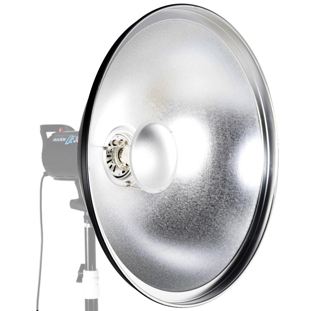 ASHANKS 55cm / 22 Studio Silver Beauty Dish Bowens Mount + Honeycomb Grid + Diffuser Sock + Soft Cloth ashanks 55cm 22 studio silver beauty dish bowens mount honeycomb grid diffuser sock