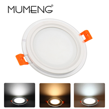 MUMENG Ultrathin LED Downlight Ceiling Recessed Changeable Round Square 6W 9W 12W 85-265V Spotlight Cold Warm White Lamp