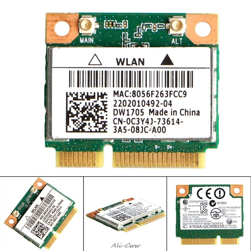 Wifi Wireless For Intel Qualcomm Atheros QCWB335 Mini Card CN-0C3Y4J For Dell DW1705 High Quality