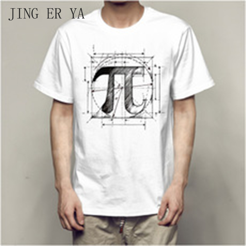 JINGERYA 2018 the new t shirt men Fashion Summer top Clothes for men funny t shirt pi math t-shirt hot selling ...