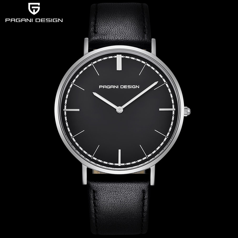 PAGANI DESIGN Ultra thin Men Watch Brand Luxury Women Watches Waterproof Leather Fashion Couple Quartz Wrist Watch montre femme цена