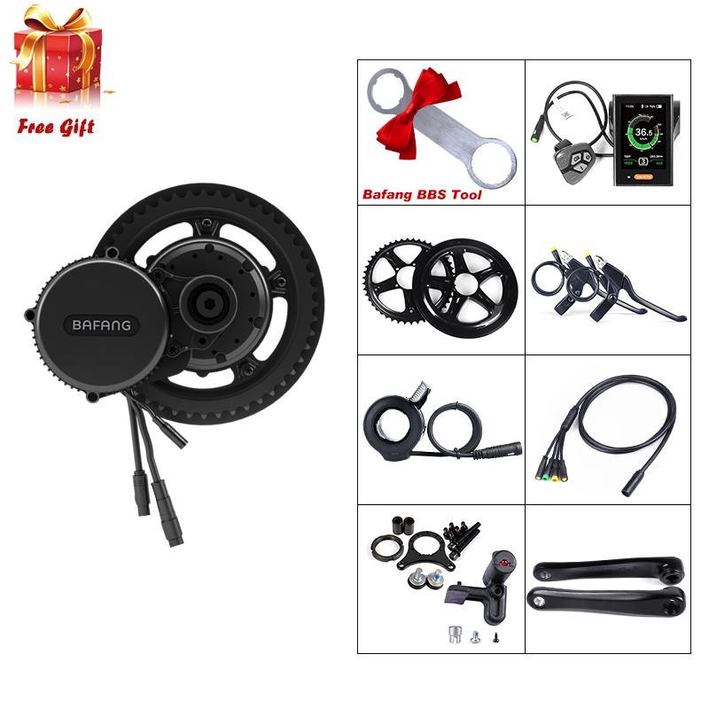 48V 350W Bafang BBS01B Mid Drive Motor Electric Bike Conversion Kit Brushless Geared BBS01 E bike