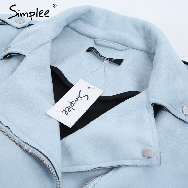 Simplee Leather suede faux leather jacket Women zipper belt moto jacket Cool streetwear ladies leather jackets Simplee Leather suede faux leather jacket Women zipper belt moto jacket Cool streetwear ladies' leather jackets winter coat 2017