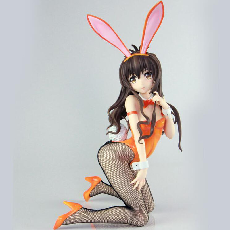 To Love-Ru Yuuki Mikan <font><b>1/4</b></font> <font><b>scale</b></font> <font><b>Bunny</b></font> girl anime <font><b>sexy</b></font> <font><b>figures</b></font> action painted dolls <font><b>figure</b></font> toys Decoration image