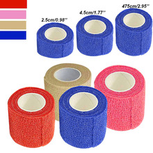 New New Self Adhesive Ankle Finger Muscles Care Elastic Medical Bandage Gauze Tape Sports Wrist Support LMH66 цена