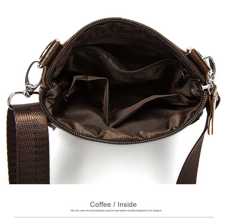 WESTAL Messenger Bag Men's Shoulder Genuine Leather bags Flap Small male man Crossbody bags for men natural Leather bag M701 8
