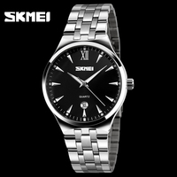 Skmei Brand New Design Men Sports Watches Military Stainless steel Quartz Digital Fashion Wristwatches Luxury Casual Hours Date