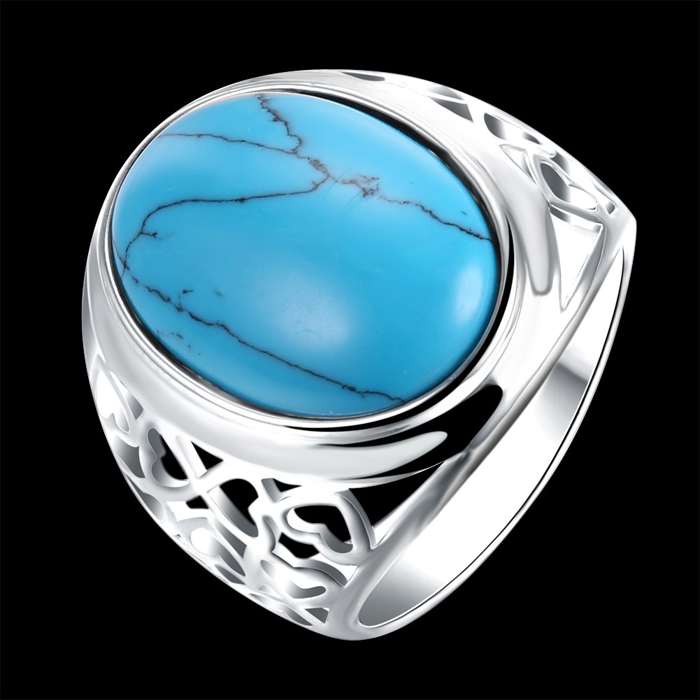turquoise pierre fathers day erkek para las mujeres vrouwen verdes green stone alliance anillo lot trendy Dahu R Dahu Rico rings