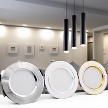 LED Downlight Ceiling 5W 9W 12W 15W 18W led Round Recessed Ceiling lamp AC 220V 230V 240V New type Bulb Bedroom
