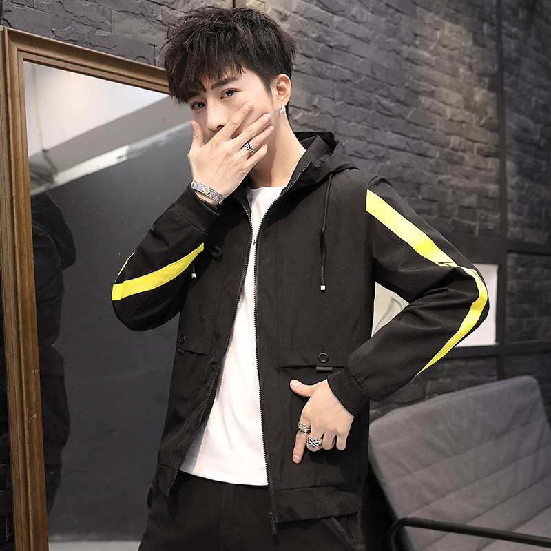 2019 Fashion hip hop jackets men hoodies overcoat patchwork printed homme Jacket male Korean fashion plus size 4XL tops clothes 44