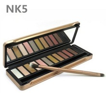 2016 Hot Make up 12 colors Eyeshadow naked Palette 1 2 3 5 NK cosmetic NAKE eye shadow case Makeup set Eye Shadow