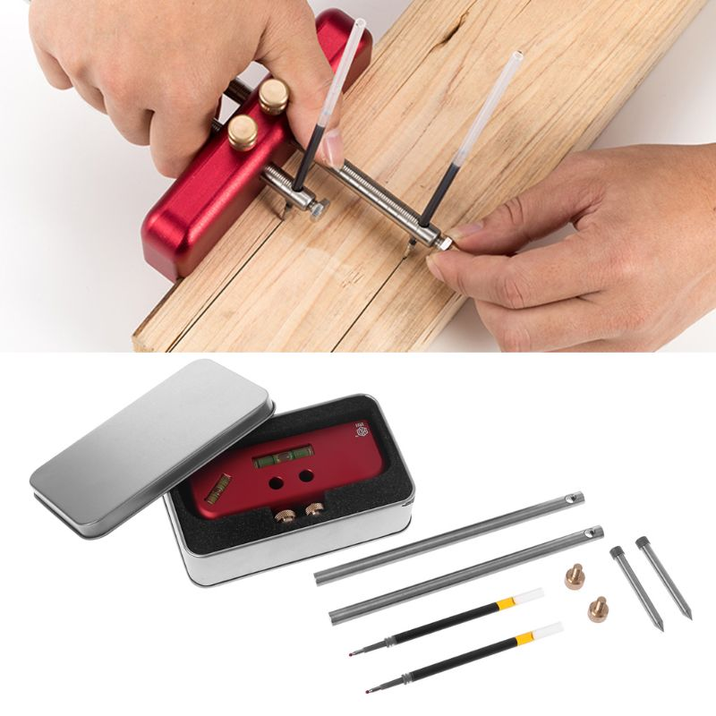 Woodworking Marker Double-head Scriber Parallel Layout Carpenter Marking Hand Tool Sets Woodworking ScriberWoodworking Marker Double-head Scriber Parallel Layout Carpenter Marking Hand Tool Sets Woodworking Scriber