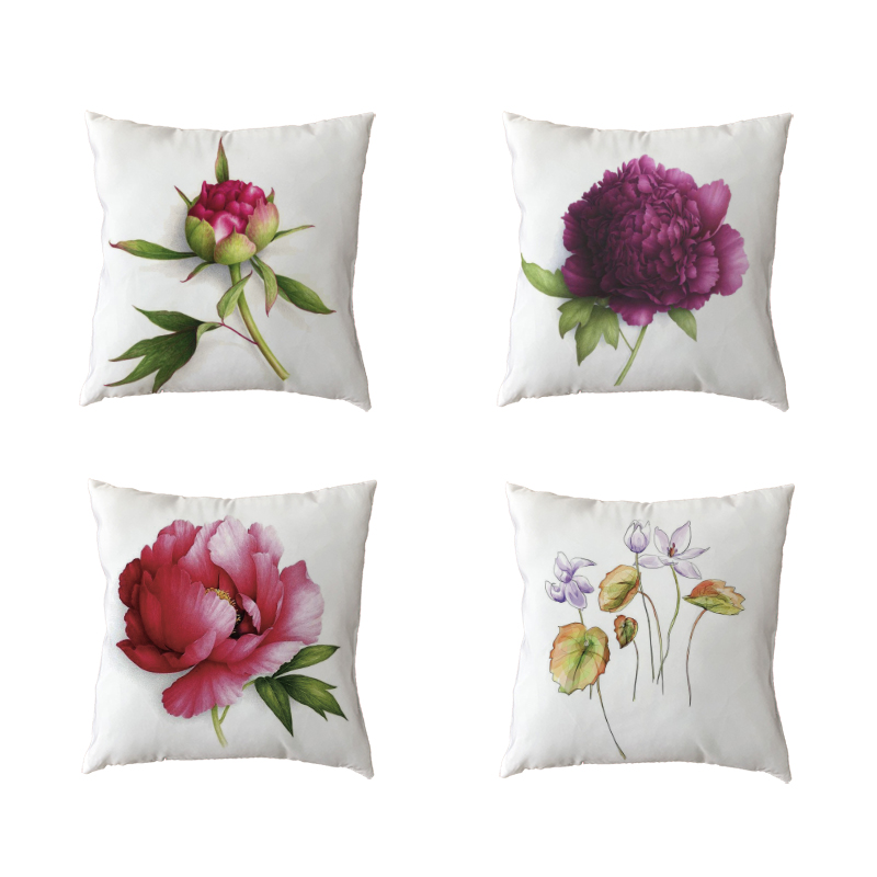 Personalised Floral Flower Background Design Cushion Cover Pillow Case /& Filling