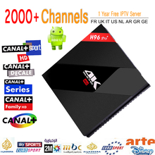 Newest H96 pro+ S912 Android 6.0 Tv Box 3G32G 4K wifi Smart Media Player H96 Pro With 2000+1Year Eupore IPTV Italy Arabic ip TV