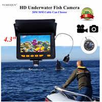 "Fish Camera 4.3"" Monitor Fish Finder HD 1000TVL Underwater Fishing Camera Ice Lake for Fishing Video Recording DVR Fishfinder"