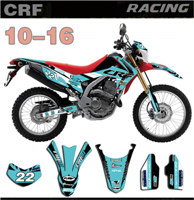 Free Customized Number Gloss Graphic Full Set Decal Sticker Kit For