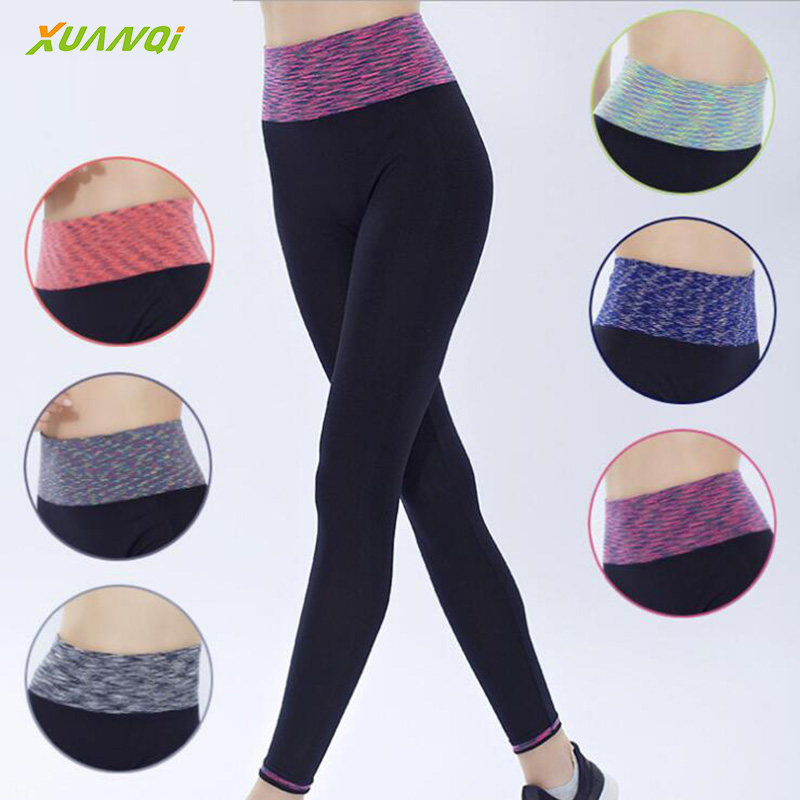Women High Waist Elastic Legging Workout Slim Running Pants
