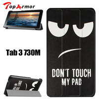 TopArmor Pattern Case For Lenovo Tab3 7 0 730M Colorful Leather Case Flip Cover Ultra Thin